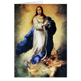 Bartolome Murillo - Immaculate Conception Greeting Card
