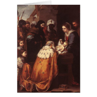 Bartolome Murillo - The Adoration of the Magi Greeting Card