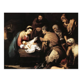 Bartolome Murillo - The Adoration of the Shepards Postcard