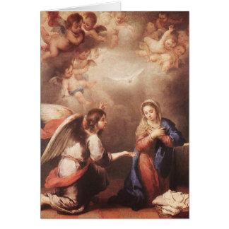 Bartolome Murillo - The Anunciation Greeting Card