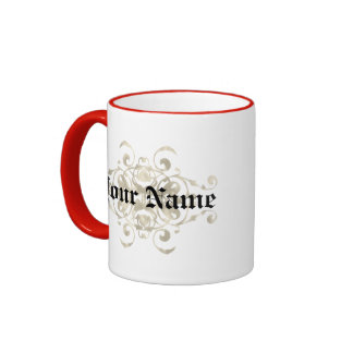 Barton Coat of Arms - Personalize first name Ringer Coffee Mug