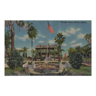 Bartow, Florida - View of Wonder House and Garde Poster