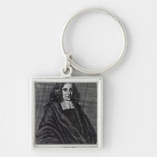 Baruch de Spinoza Silver-Colored Square Key Ring
