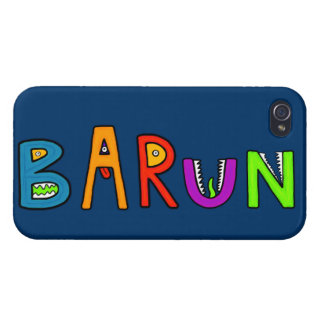 """Barun"" Monster Letters iPhone 4 Cover"