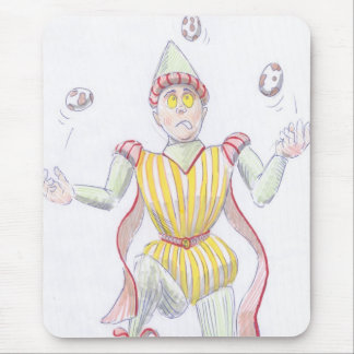 Baryon Quark Cartoon Medieval Baron Juggling Mouse Pad