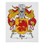 Bas Family Crest Posters