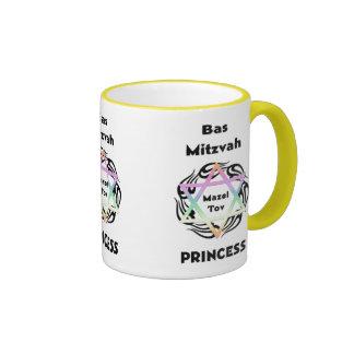 Bas Mitzvah Princess Ringer Mug