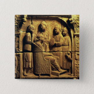 Bas relief of a hairdresser, Roman 15 Cm Square Badge