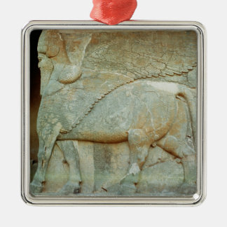 Bas-relief of an anthropomorphic bull christmas ornament
