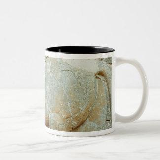 Bas-relief of an anthropomorphic bull coffee mug
