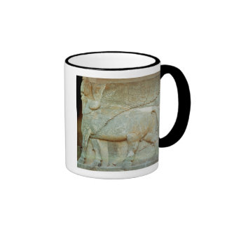 Bas-relief of an anthropomorphic bull ringer mug