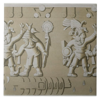 Bas Relief of Ancient Aztec Warriors, from The Sto Tile
