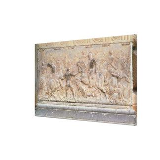 Bas relief panel canvas prints