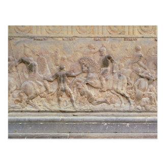 Bas relief panel postcard