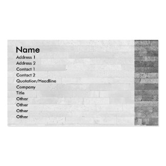 Basalt brick wall pack of standard business cards
