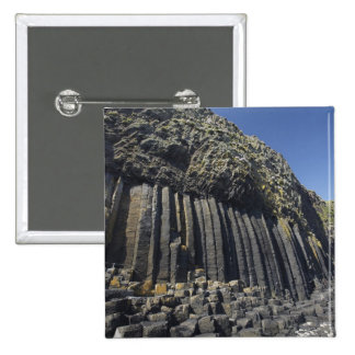 Basalt Columns by Fingal's Cave, Staffa, off 15 Cm Square Badge