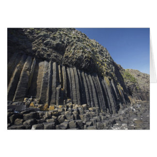 Basalt Columns by Fingal's Cave, Staffa, off Greeting Card