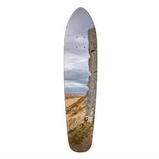 Basalt columns in Gerduberg Iceland Skate Board