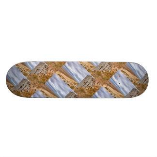 Basalt columns in Gerduberg Iceland Skateboard Deck