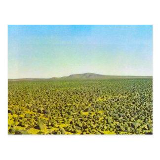 Basalt desert at Djebel es Soda, Libya Postcard