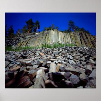 Basalt Formations of Devils Postpile Poster