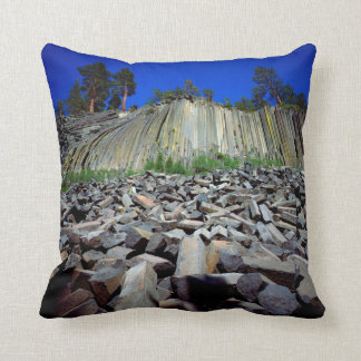 Basalt Formations of Devils Postpile Throw Pillow