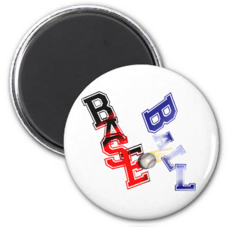Base Ball 6 Cm Round Magnet