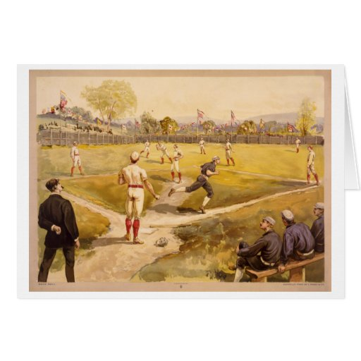 Base Ball Greeting Cards