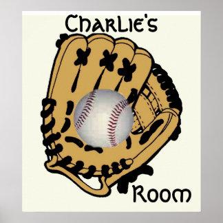 Base Ball & Glove Poster