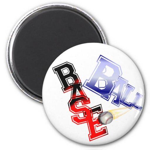 Base Ball Fridge Magnets