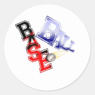 Base Ball Round Sticker