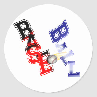 Base Ball Round Stickers