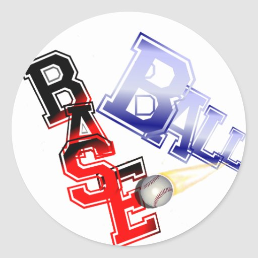 Base Ball Round Stickers