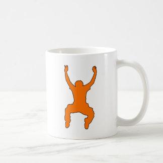 BASE Jumper Silhouette Free Falling Jump Basic White Mug