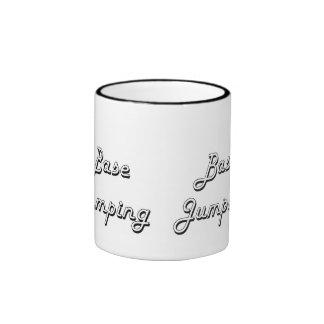 Base Jumping Classic Retro Design Ringer Mug