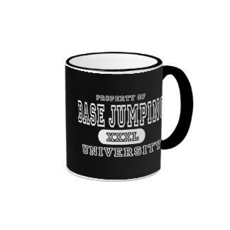 Base Jumping University Dark Coffee Mugs