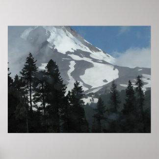 Base of Mt Hood Oil Painting Print