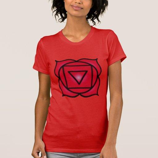 Base Root Chakra Balance Women's American Apparel T-shirts