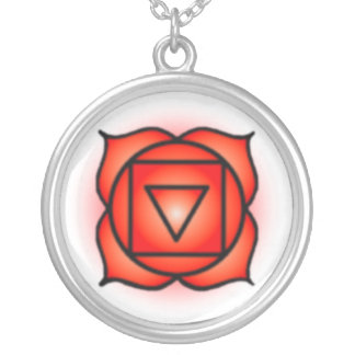 Base Root Chakra Sterling Silver Plate Necklace