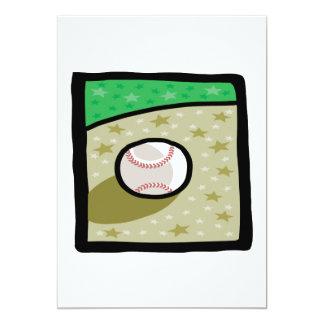 Baseball 13 Cm X 18 Cm Invitation Card