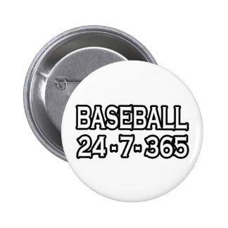 Baseball 24-7-365 6 cm round badge