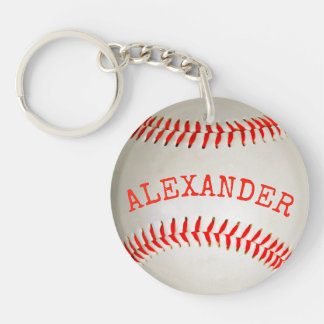 Baseball 2 key ring