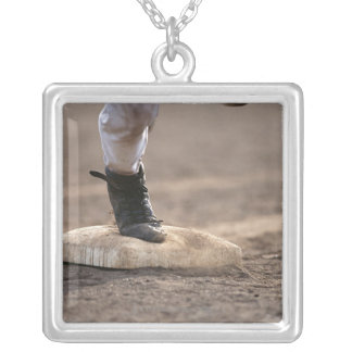 Baseball 3 silver plated necklace