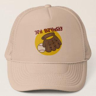 Baseball 3rd Birthday Gifts Trucker Hat
