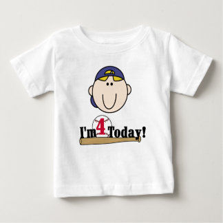 Baseball 4th Birthday Baby T-Shirt