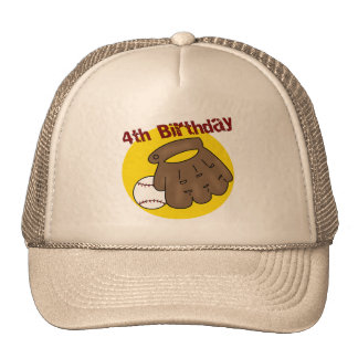 Baseball 4th Birthday Gifts Cap