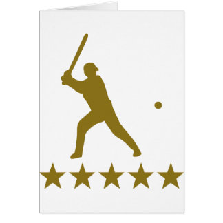 baseball 5 star deluxe greeting card