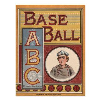 Baseball ABCs Postcard