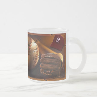 Baseball Addiction Frosted Glass Mug