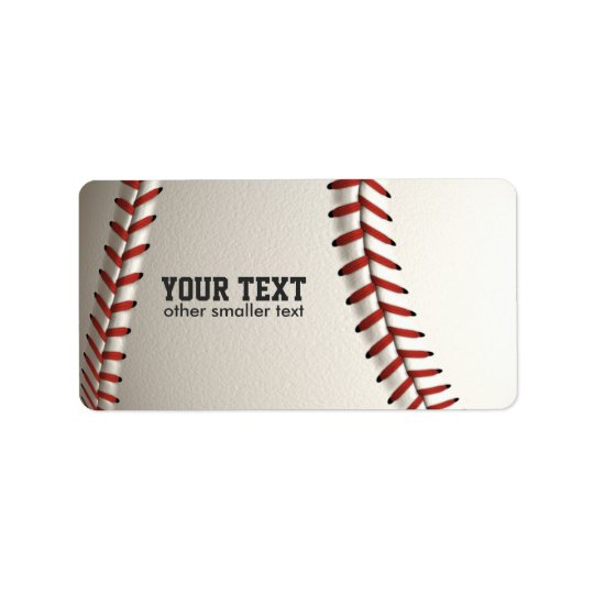 Baseball Address Label